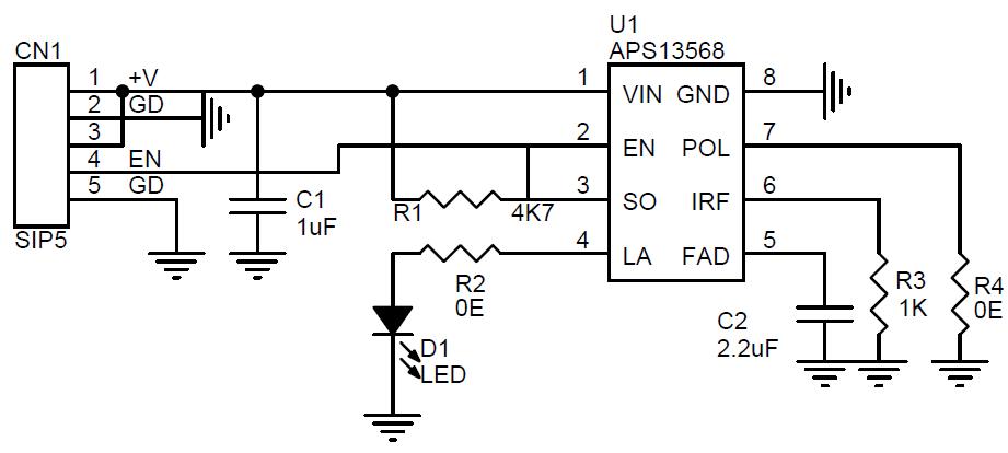 hall effect sensor with microcontroller sensor already in circuit