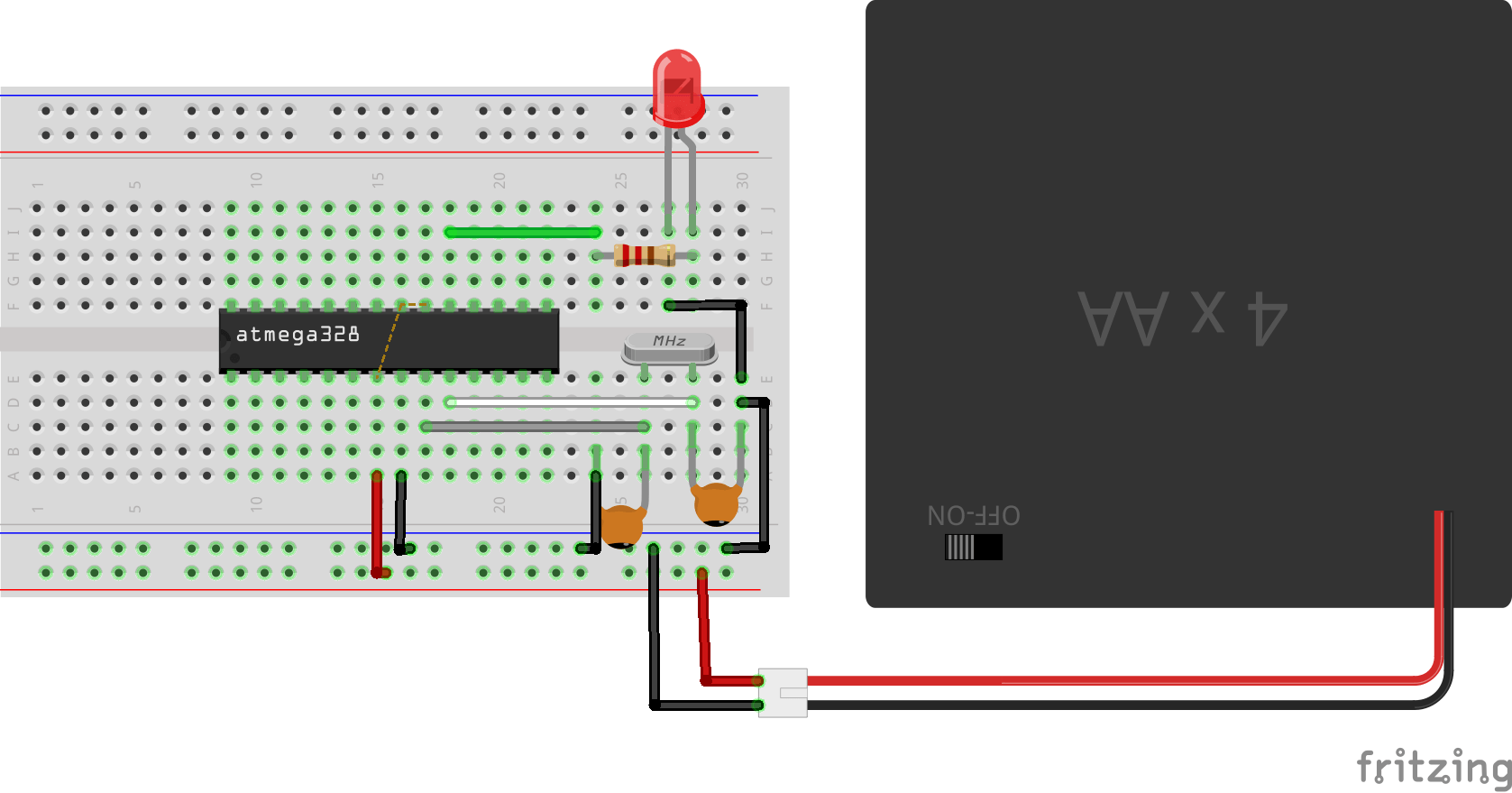My Electronics Lab How Breadboard Can Connect Electronics Components