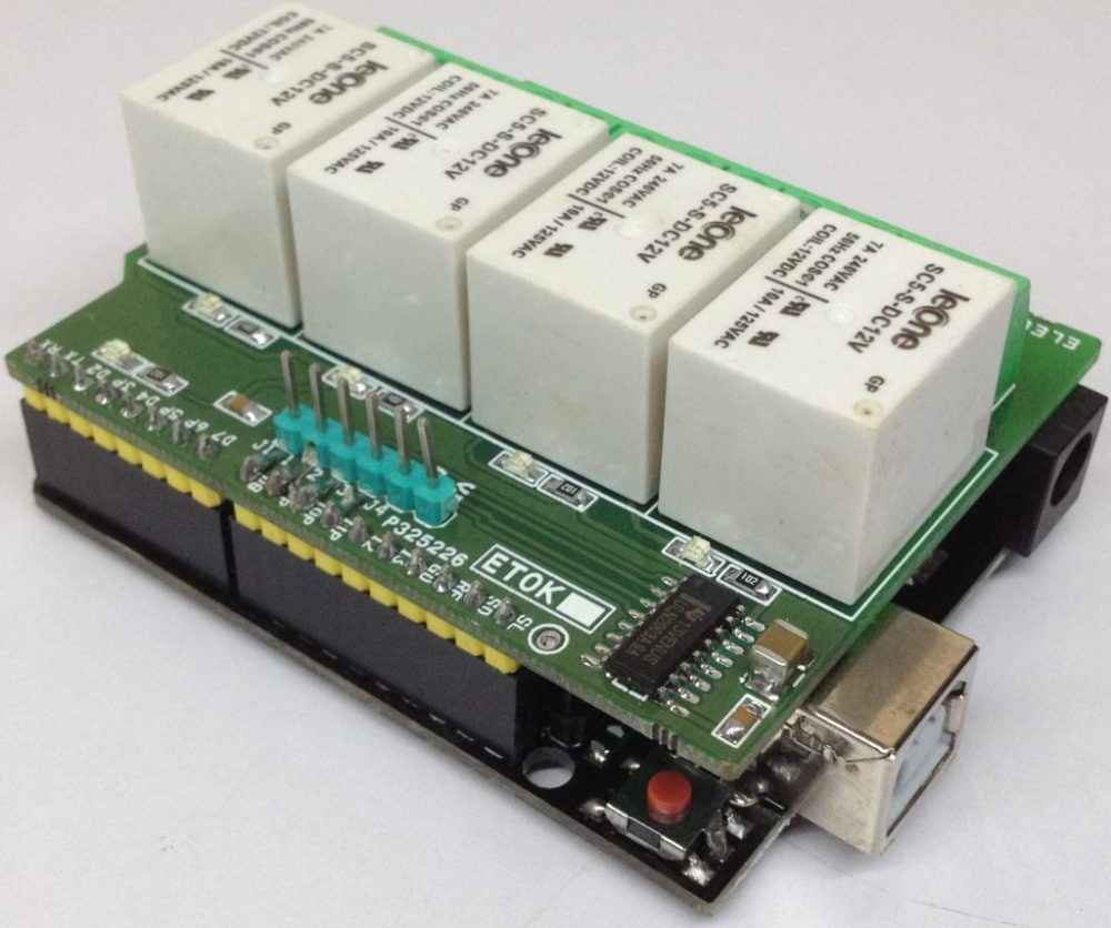medium resolution of 4 channel relay shield for arduino uno is a simple and convenient way to interface 4 relays for switching applications in your project