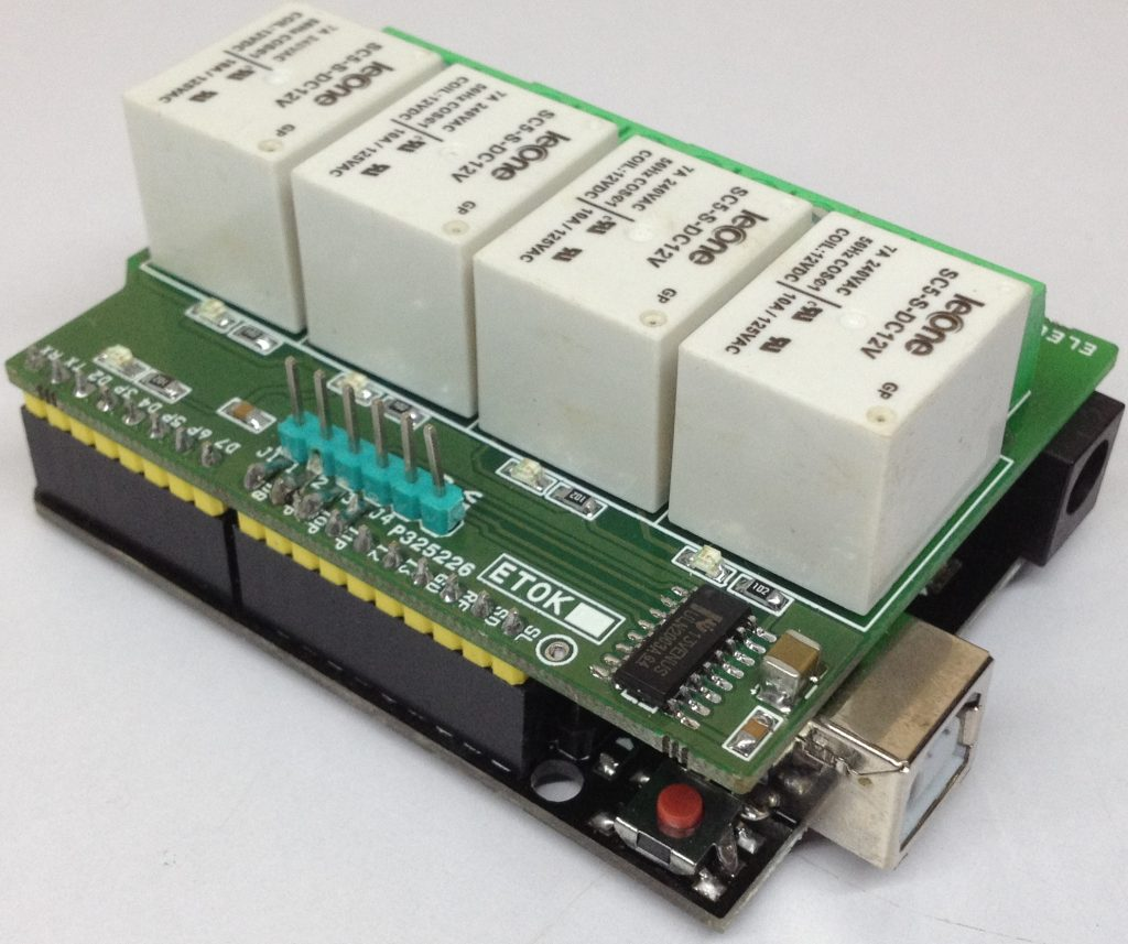hight resolution of 4 channel relay shield for arduino uno is a simple and convenient way to interface 4 relays for switching applications in your project