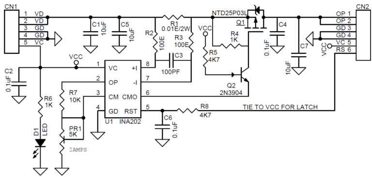 Current Limit Solid State Power Switch with Latch