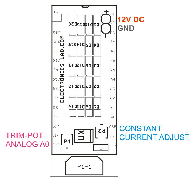 750mA Constant Current LED Driver Arduino Nano Shield