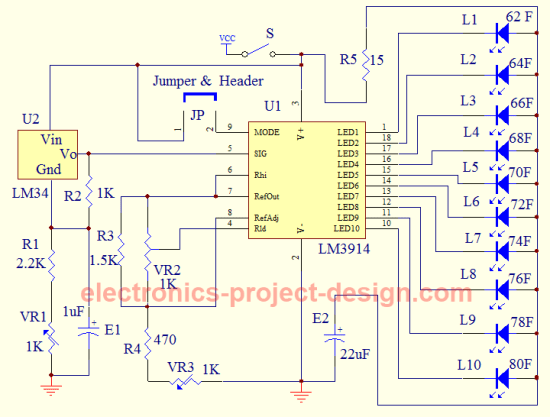 Analog Thermostat Wiring Diagram Led Thermometer