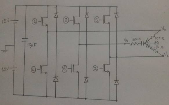 Three-Phase-Inverter-using-MOSFET-to-drive-BLDC-motor-and