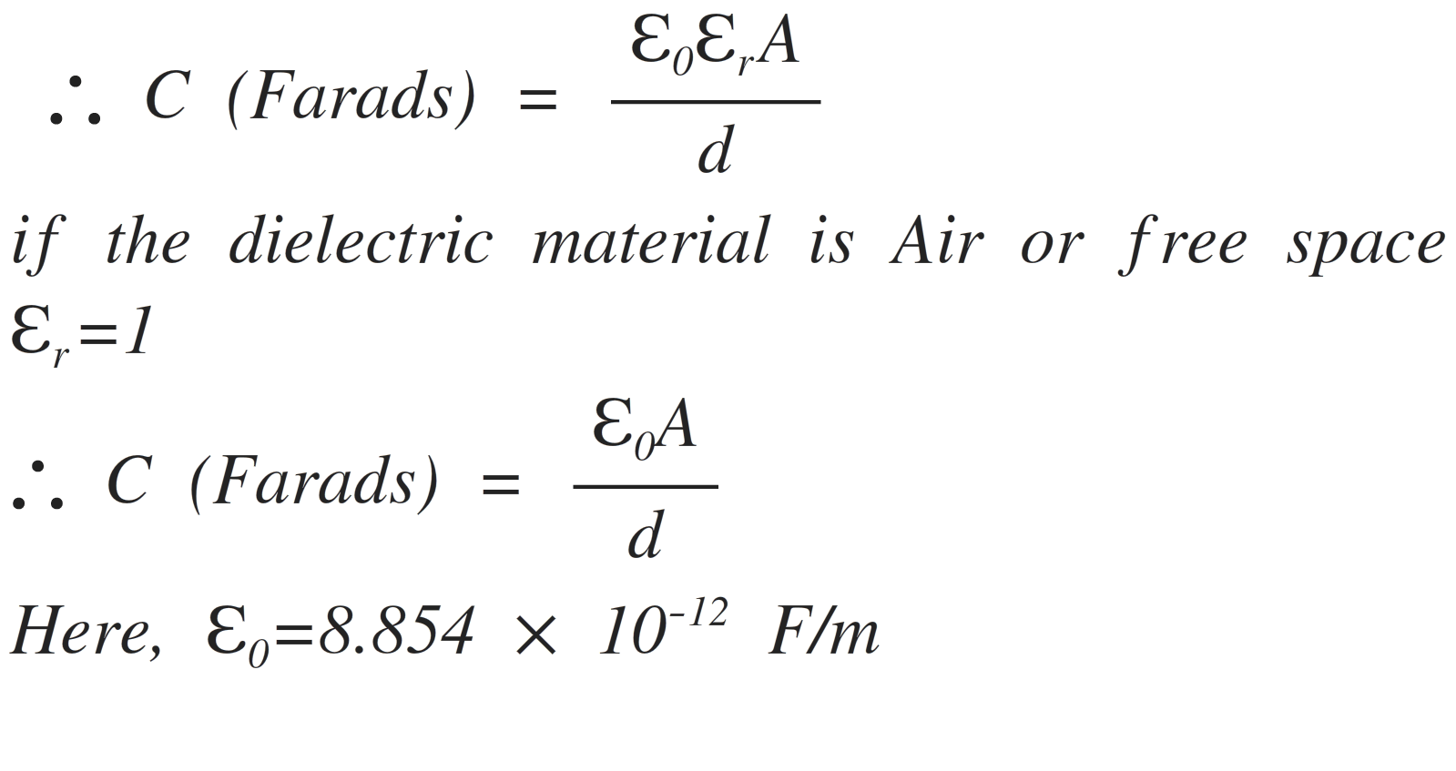 Charging Capacitor Equation