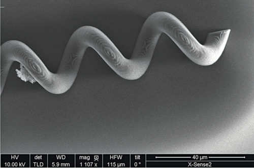 Image of an artificial bacterial flagella