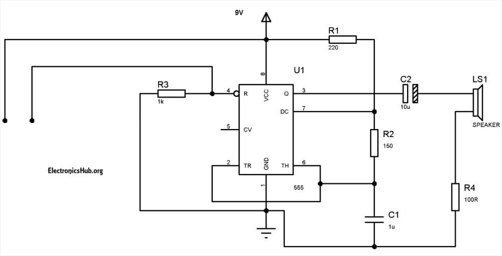 medium resolution of burglar alarm using 555 timer