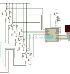 water level indicator project circuit working using avr six level wireless water level indicator circuit diagram [ 1190 x 1049 Pixel ]