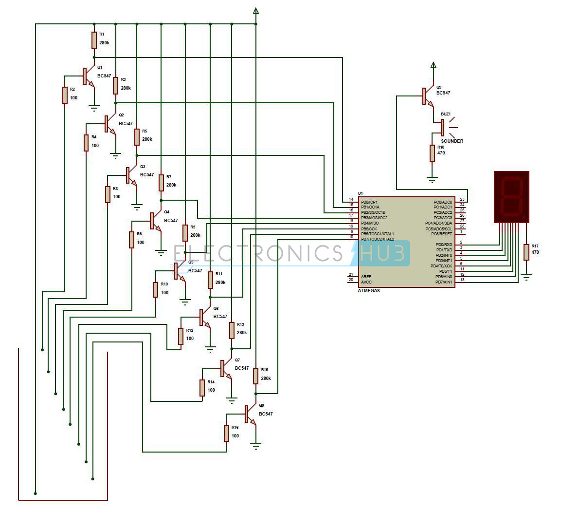 liquid level controller circuit diagram sony xplod 10 water indicator project working using avr