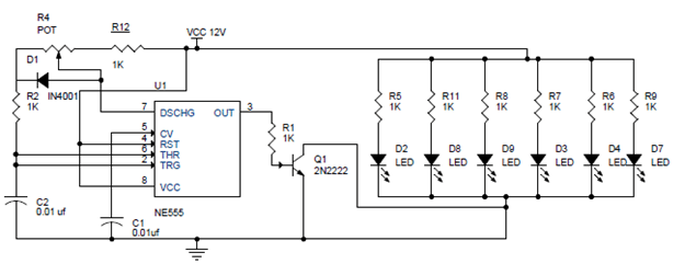 pwm led dimmer using ne555 circuit and block diagrams led dimmer