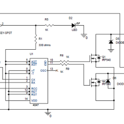 Dc To Ac Inverter Diagram Caravan Wiring Towbars Simple 100w Circuit And Its Working