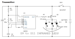 IR (Infrared) Remote Control Switch Circuit and Applications
