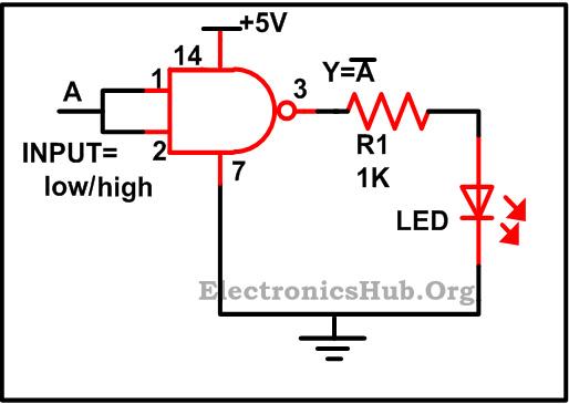 circuit diagram using nand gates