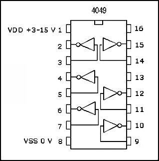 12V to 24V DC Converter Circuit using Hex Inverter IC CD4049