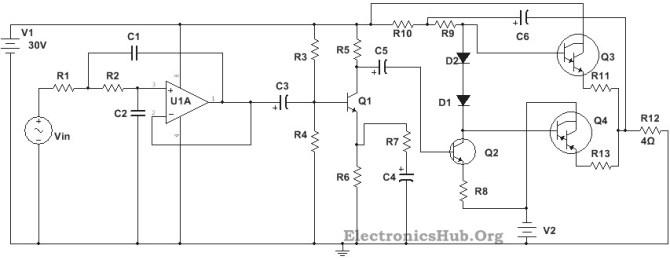 subwoofer power amplifier circuit diagram  wiring diagram