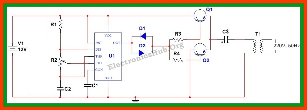 110 volt transformer wiring diagram clipsal dimmer how to make 12v dc 220v ac converter/inverter circuit design?