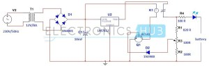 Simple Car Battery Charger and Indicator Circuit Diagram