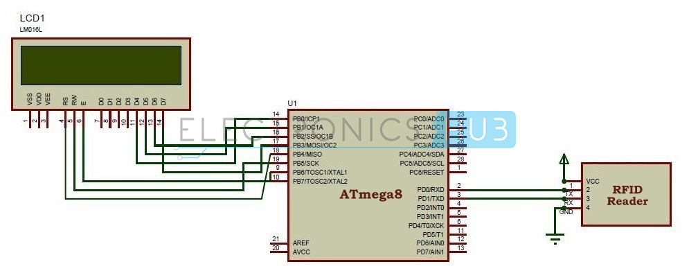 Ac Home Wiring Antenna Digital Rfid Based Attendance System Circuit Using Microcontroller