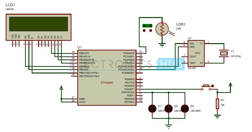 microcontroller based inverter circuit diagram ao smith motors wiring street lights that glow on detecting vehicle movement