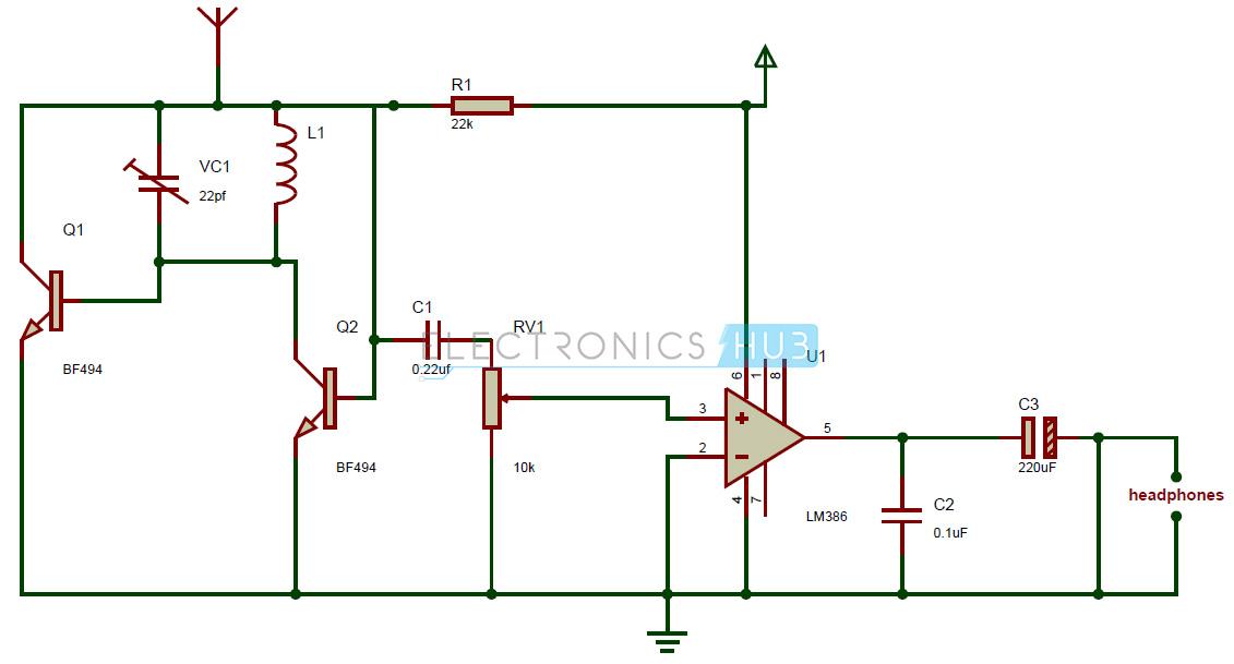 simple am receiver circuit diagram esp ltd wiring diagrams basic radio free for you fm tiny single chip rh electronicshub org pdf