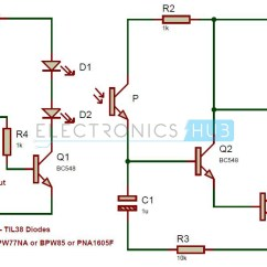 Simple Am Receiver Circuit Diagram T1 Crossover Cable Pinout Ir Audio Transmitter And