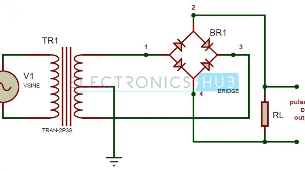medium resolution of full wave bridge rectifier circuit working and applications simple bridge rectifier circuit diagram electronic circuit diagrams