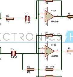 multi channel audio mixer circuit using lm3900 channel audio mixer circuit audio amplifier schematic circuits [ 1280 x 720 Pixel ]