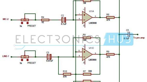 small resolution of multi channel audio mixer circuit using lm3900 channel audio mixer circuit audio amplifier schematic circuits