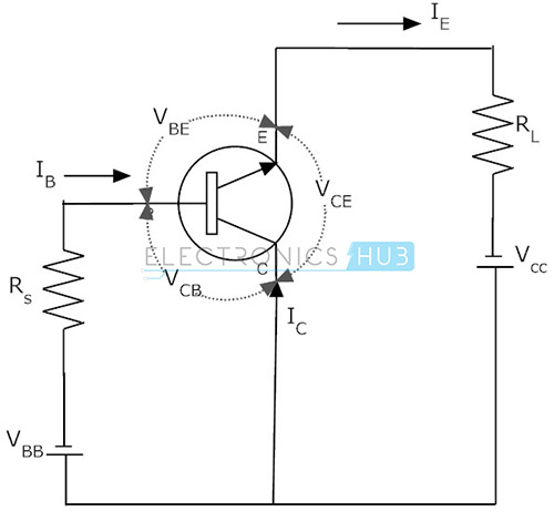 common base configuration circuit diagram ef thermo fan wiring transistor collector and emitter