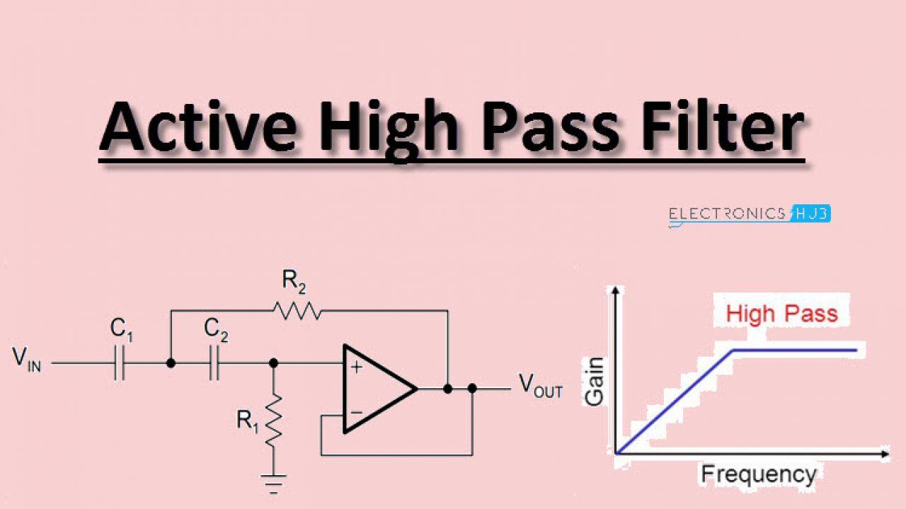 Active High Pass Filter Circuit Design And Applications
