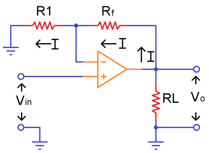 circuit diagram of non inverting amplifier fpv drone wiring operational amplifiers working and applications image 1