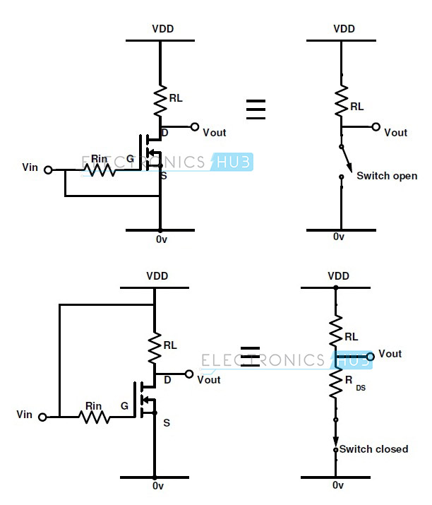 p channel mosfet switch circuit