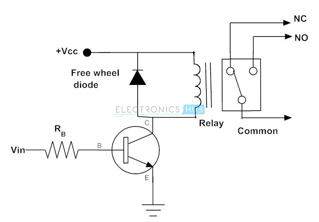 relay circuit diode