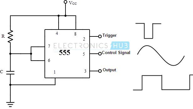 monostable 555 circuit