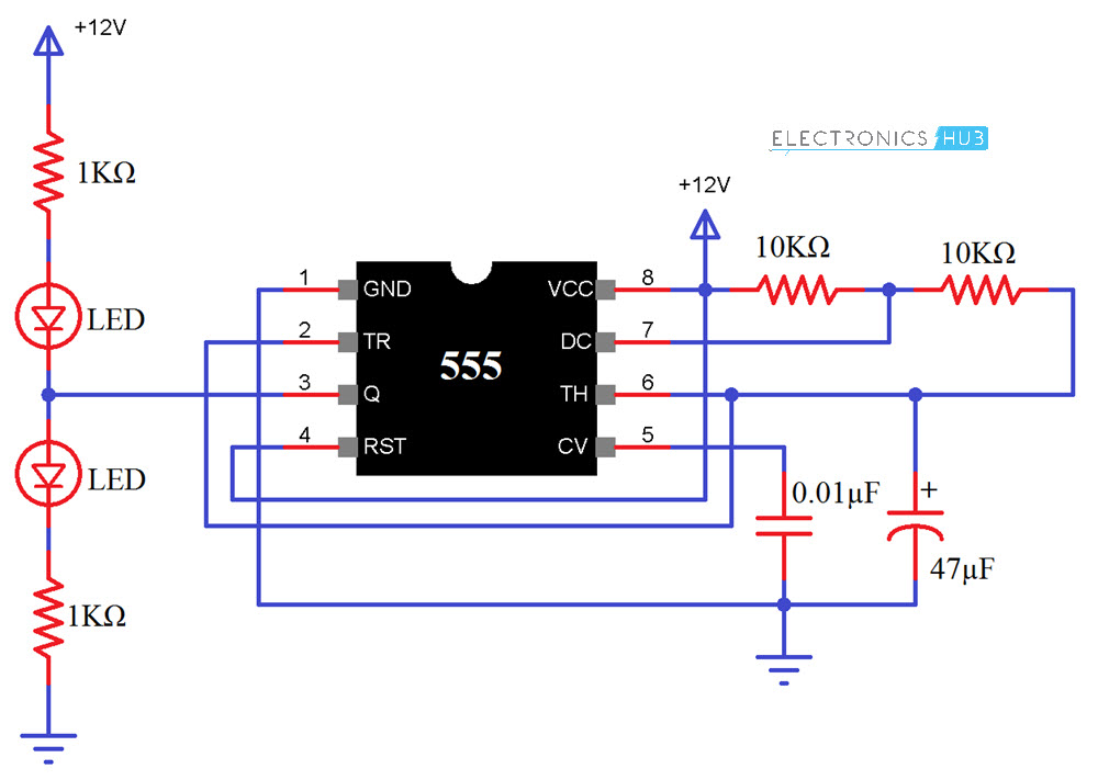555 timer wiring diagram kenwood excelon dnx8120 circuit ic chip data today555 testing and its working