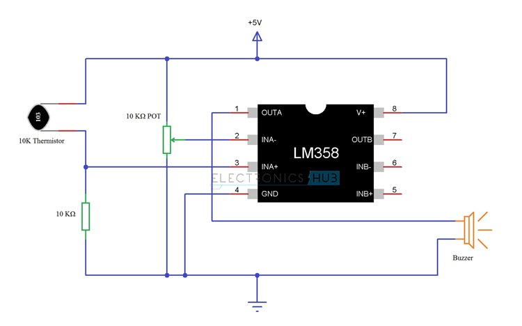 fire alarm schematic diagram 2016 ford f150 trailer wiring simple circuit using thermistor germanium diode and lm341