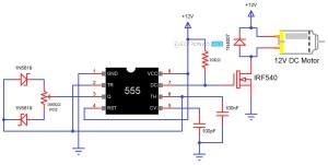 Speed Control of DC Motor Using Pulse Width Modulation, 555
