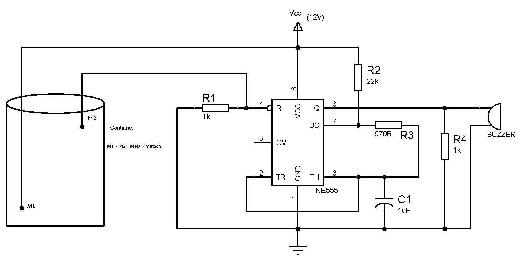 hight resolution of simple water level indicator with alarm 3 tested circuits sensor light switch circuit diagram besides water level sensor circuit