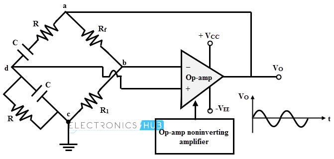 wien bridge oscillator using ha2541 op amp