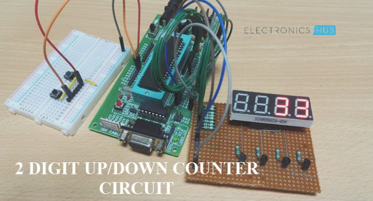 Electronics Main And Mini Project Works 7 Segment Up Down Counter