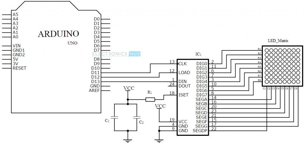 led matrix and driver circuit