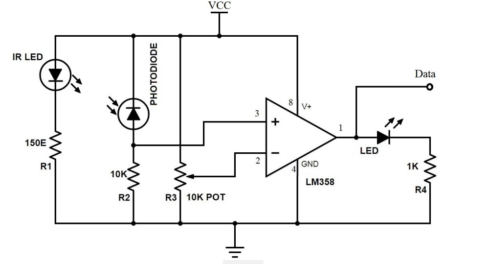 medium resolution of bidirectional visitor counter using 8051 microcontroller ir sensor