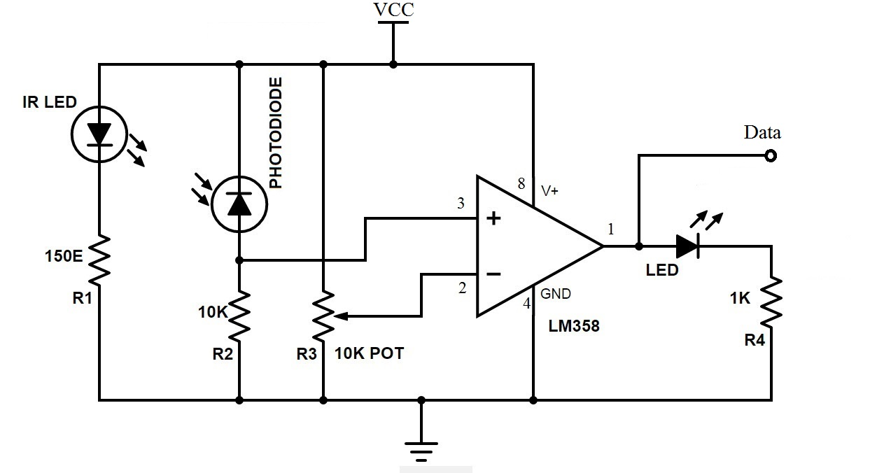 hight resolution of bidirectional visitor counter using 8051 microcontroller ir sensor