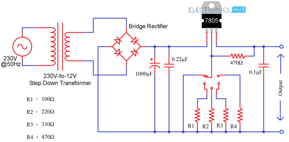 Variable High Voltage Power Supply Circuit Schematic Electronics