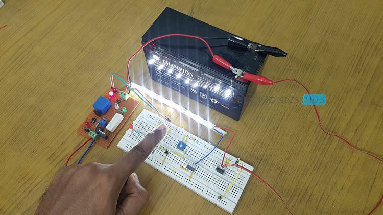 Led Light Circuit With Automatic Charger Electronic Circuit Projects