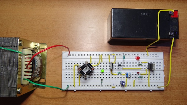 automatic 9v battery charger circuit diagram