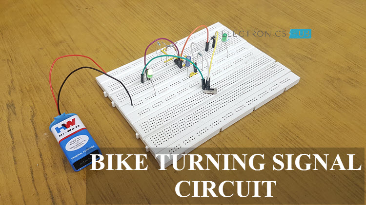 electronics mini projects with circuit diagram 6 2 volleyball offense bike turning signal indicator using 555 timer