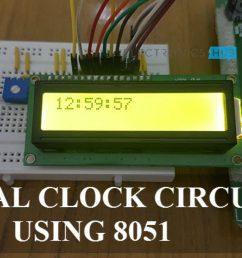 digital clock circuit using 8051 and ds12c887 [ 1280 x 720 Pixel ]