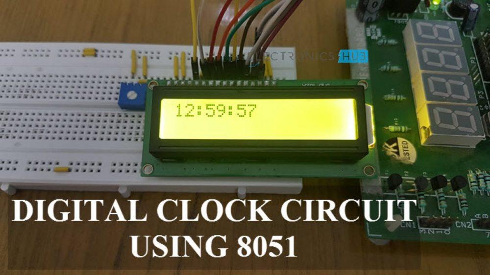 medium resolution of digital clock circuit using 8051 and ds12c887