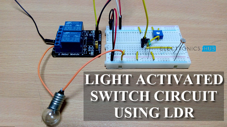 Light Dark Switch Activated Relay Circuits